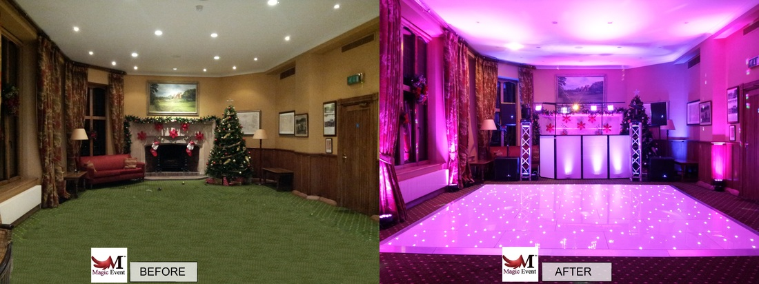 led uplighting hire in london