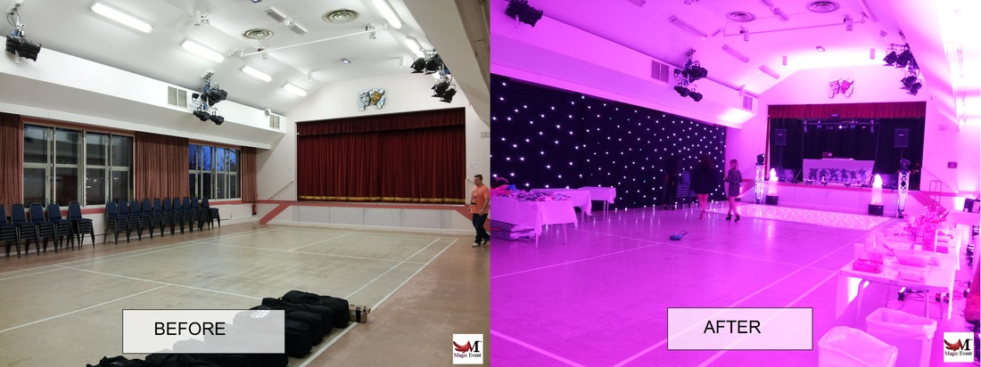 led uplighting in london before and after
